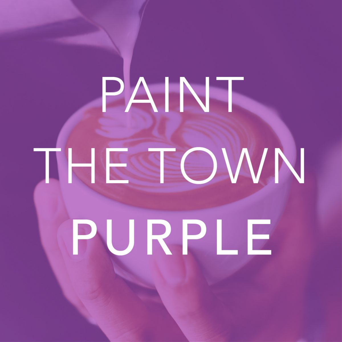 Paint the town purple: Purchase a coffee and donut in support of Interval House of Hamilton